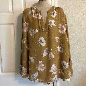 AVA & EVE, NWT, 4X,  Plus Size Long Sleeve Blouse